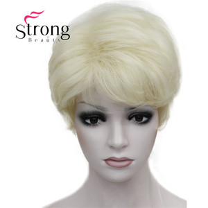 Image 5 - StrongBeauty Womens Wigs Fluffy Naturally Curly Short Synthetic Hair Full Wig 11 Color