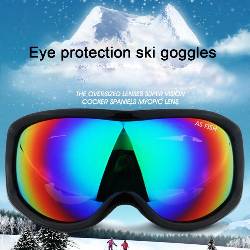 Противотуманные лыжные очки, лыжные очки с защитой от ультрафиолета, крутые зимние спортивные очки для сноуборда для мужчин и женщин, аксес...
