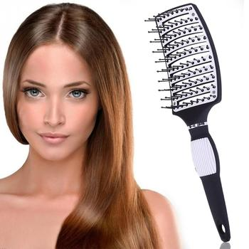 New Hair Brushes Curved Vented Styling Hair Brush Detangling Thick Hair Massage Blow Drying Brush Massage Hair Comb