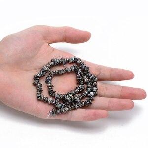 Image 5 - Boulettes de perles Keshi, nucléées, bobines de perles, DarkSlateGray environ 5 ~ 10x4 ~ 8mm, trou: 0.5mm, environ 169 pièces/brin, 14.96 pouces
