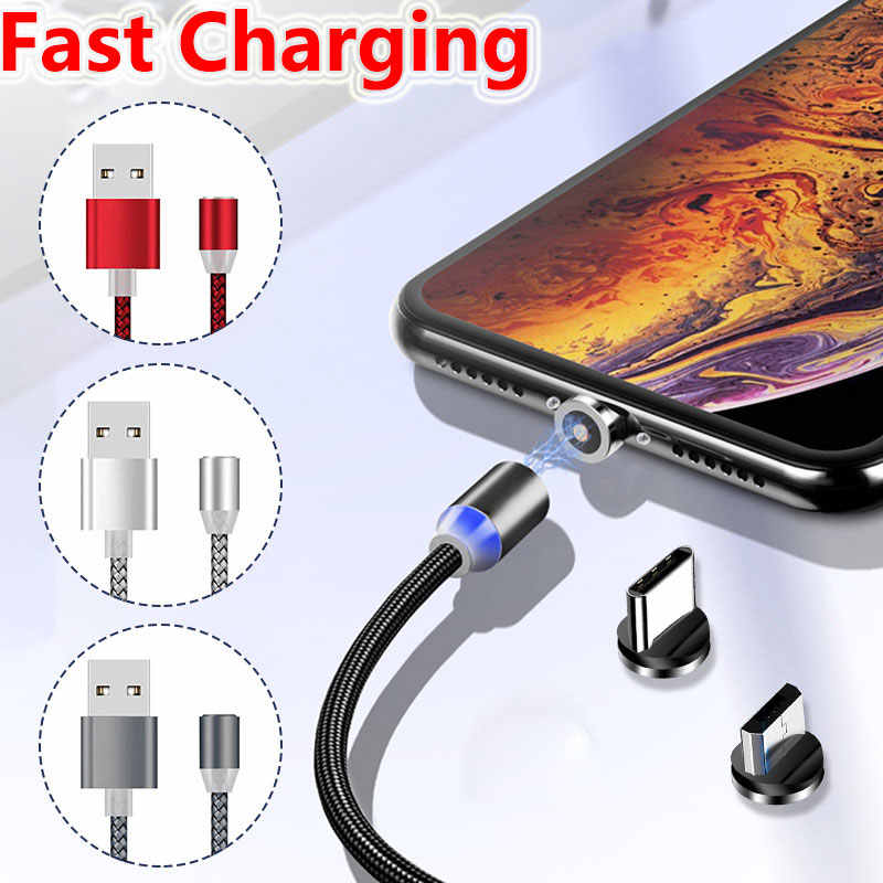Fast Charging Magnetic USB Cable / Micro USB / Type-C For Huawei P30 P20 Ltie Pro Magnet Charger Phone Cable for Samsung A50 USB
