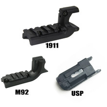 Totrait tático beretta m92/1911/usp pistola 20mm sob trilho de montagem a laser vista adaptador pa0204 caça acessório
