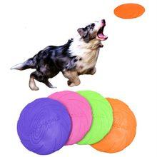 Jouets interactifs à mâcher pour chiens, morsure de résistance, en caoutchouc souple, chiot, jouet pour animaux de compagnie, produits d'entraînement, disques volants pour chiens, 1 pièce