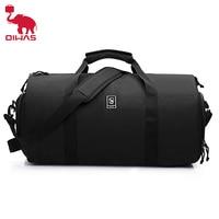Oiwas Tragen-auf Seesack Große Reisetasche Mehrere Taschen Rucksack Bekleidungs Anzug Tasche mit Schuh Fach für Männer frauen