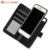For iPhone 8 7 6 Plus SE 2020 5 S 5S Detachable Magnetic Case Flip Wallet Leather Cover 2 in 1 Phone Bag Accessory Book Coque