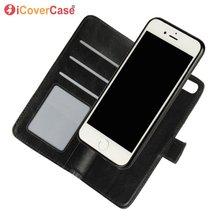 Iphone 8 7 6 プラスse 2020 5 5s 5 4s取り外し可能な磁気ケースフリップウォレットレザーカバー 2 1 で電話バッグアクセサリーブックcoque