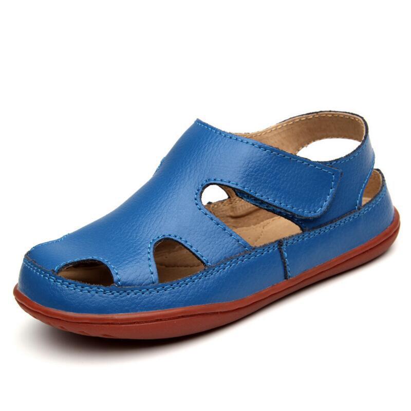 2020 Summer Children's Sandals Boy Girls Fashion Genuine Leather Kids Beach Sandals Non-slip Casual Sport Sandals Comfortable