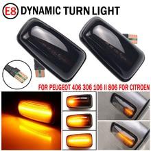 Dynamic LED Side Marker Light Signal Blinker for Citroen Berlingo Jumpy Saxo Xantia Xm ZX Peugeot 106 36 406 806 EXPERT PARTNER