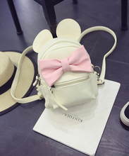 New Cute Backpacks for Girl Bowknot Fashion Mini Women Bags Exquisite Korean School Version of Mickey Ears Sweet Bow College Bag