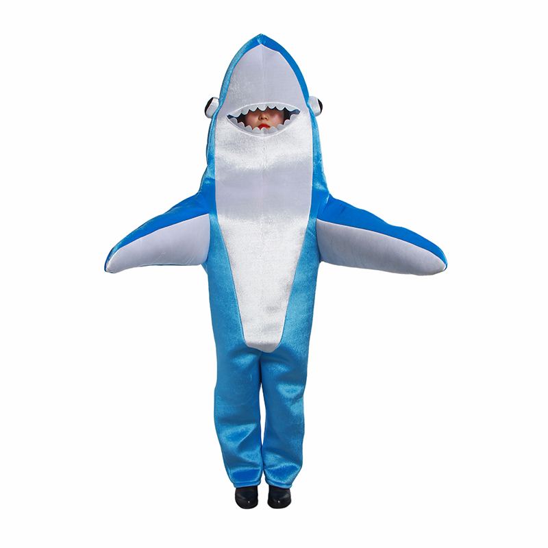 Jumpsuit Shark Costume Cosplay Masquerade Stage Costume Halloween Christmas Props Adult Jumpsuit Cosplay Clothes