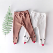 Newborn Baby Pants Baby Leggings Winter Christmas Girl Clothes Fleece Boy Trousers Pantalones Infant Girl Legging Toddler Pants(China)