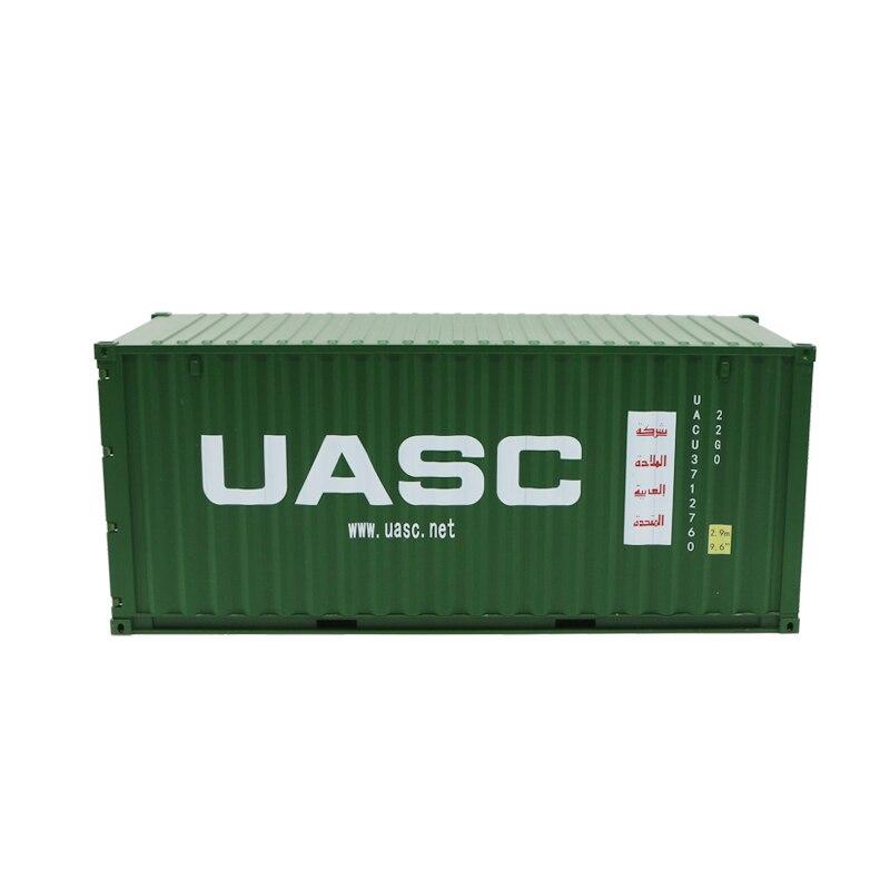 Jouet à collectionner modèle cadeau 1:20 échelle arabe USAC 20 GP camion, modèle de conteneur d'expédition pour cadeau d'affaires, affichage, décoration