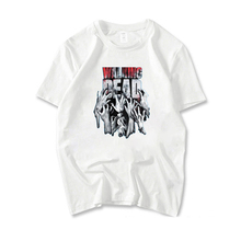 Walking Dead T-Shirts Men Short Sleeve Cotton Round Neck Tee Shirt Boys Casual T Shirt Summer Unisex White Short-sleeve Tees цена и фото