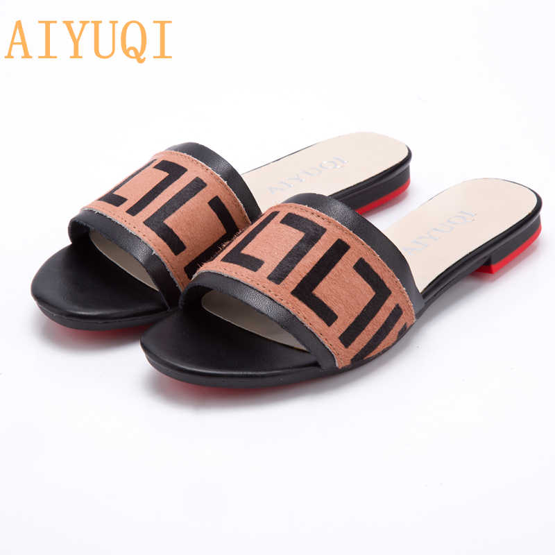 AIYUQI Womens Designer Slides Genuine