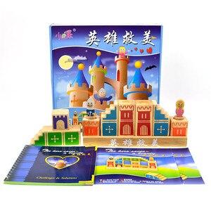Деревянные строительные блоки, деревянные Семейные игры 48, вызов с раствором, игрушки для детей, логическое мышление, умный Jouet Enfant