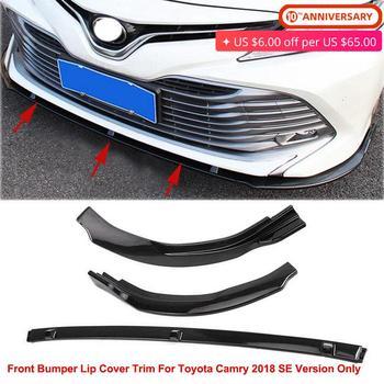 For Toyota Camry 2018 SE Version Front Bumper Lip Cover Trim Mouldings Decoration Plastic Gloss Black / Carbon Fiber Style Color