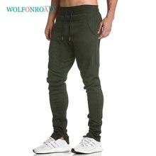Wolfonroad men caminhadas joggers algodão fitness sweatpants ginásio treinamento calças esportivas exercício ao ar livre atlético jogger calças