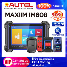 Autel MaxiIM IM608 auto diagnostic tool IMMO XP400 key programming Bi-Directional obd2 scanner J2534 ECU Coding (No IP Limited)
