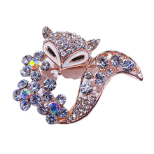 Rhinestone Animal Shape Brooch Alloy Brooch Clothes Ornament Decor for Sweater Dress Cardigan CX17 цена в Москве и Питере