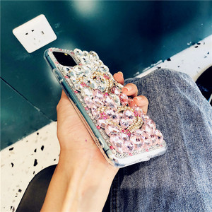 Image 5 - For iPhone 12 Cover Gradient Full Bling Crystal Diamond Love Heart Phone Case For iPhone 11 Pro Max XS XR X 8 7 6S Plus SE 2020