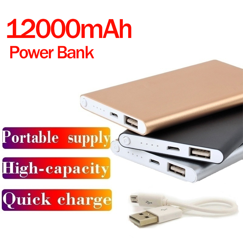 <font><b>12000mAh</b></font> Portable USB External Battery Charger Power Bank portable charging for <font><b>phone</b></font> powerbank External Battery Bank image