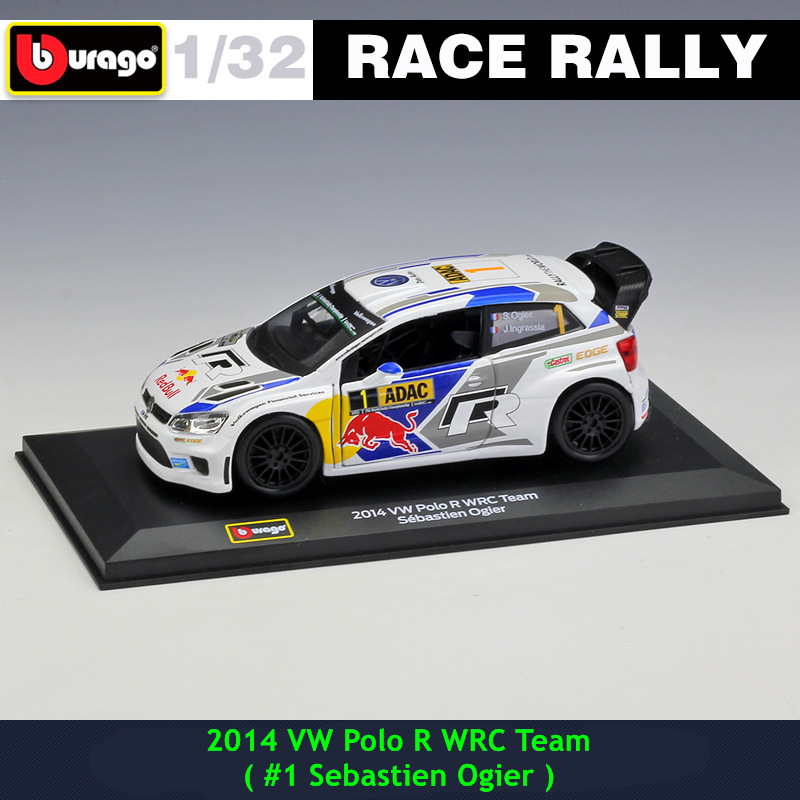 Bburago 1:32 2014 VW Polo #1 DS WRC Rally Racing Alloy Model Car Model Collecting Gifts