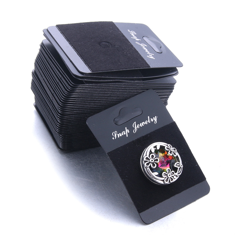 New Multiple Styles Snap Jewelry Display Board Fit 1PCS 12mm And 18mm Snap Buttons Jewelry Black Flannel PVC Snap Display Holder