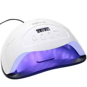 Image 1 - 84 36wネイルドライヤーledランプ36個のledデュアル手ネイルランプ硬化uvジェルネイルポリッシュ10/30/60秒タイマースマートのためのマニキュア