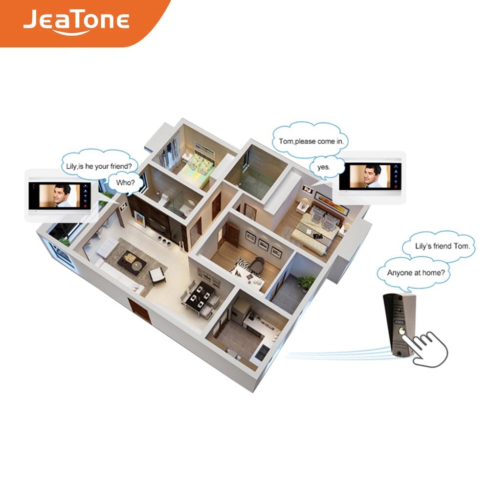 Купить с кэшбэком JeaTone 7'' Video Door Phone Intercom System Video Doorbell Camera Home Security Video Door Phone Kit System Waterproof Doorbell