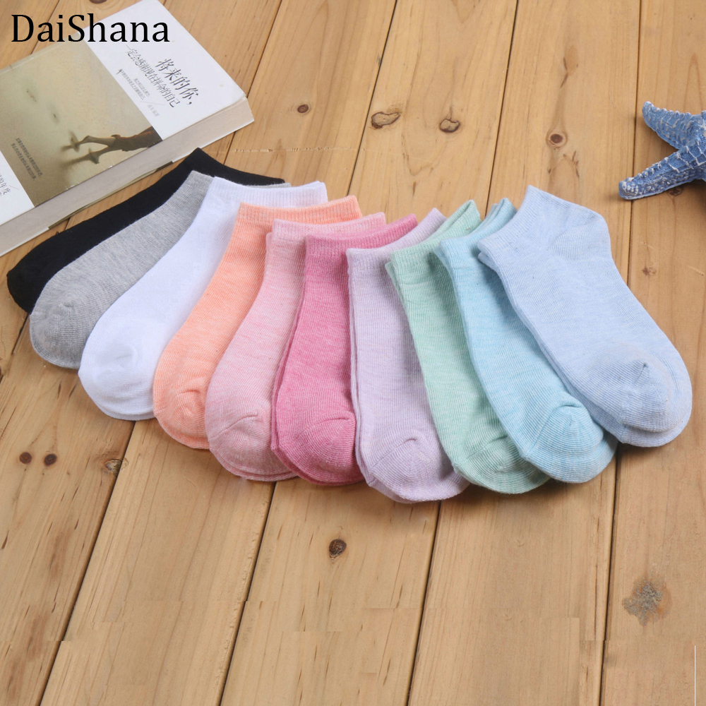 DaiShana 20pieces=10pair/lot New Fashion Candy Colored Sock Women Ankle Sock Funny Cute Boat Socks Casual Lady Girl Sokken Mujer