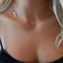 Модное ожерелье из нержавеющей стали с крестом для женщин ожерелья