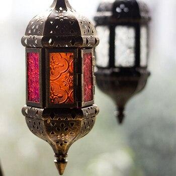 Creative and personalized iron art ornaments Outdoor wind proof decoration retro candlestick decoracion para iglesia