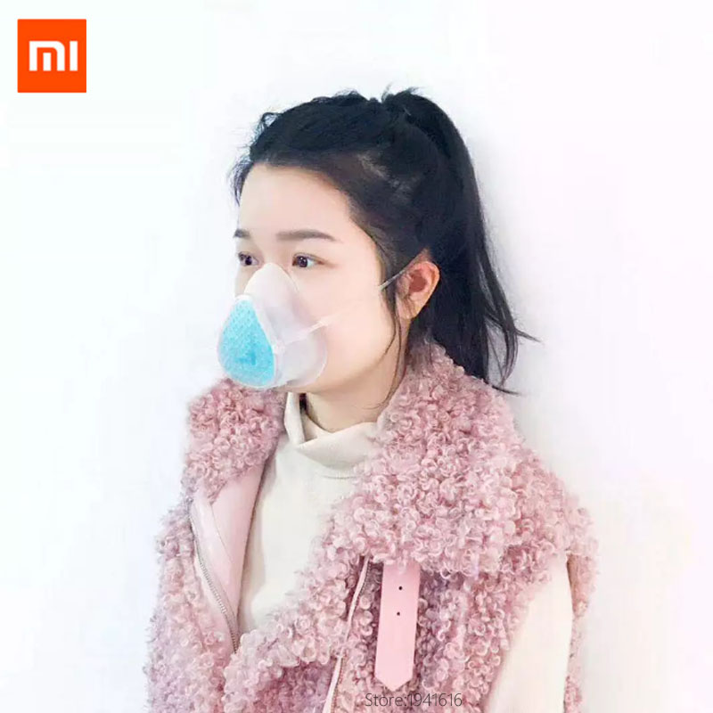 2020 Summer Stock Xiaomi Mijia S8 Face Cover Reusable Washable Anti 3D Comfortable Food Grage Silicon Safe 4 Layer Filters