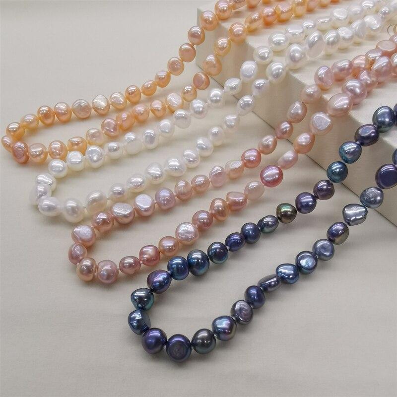 DAIMI 8-9mm Baroque Pearl Jewelry Sets Silver 925 Jewelry Pearl Sets Necklace/Earrings/Bracelet For Women