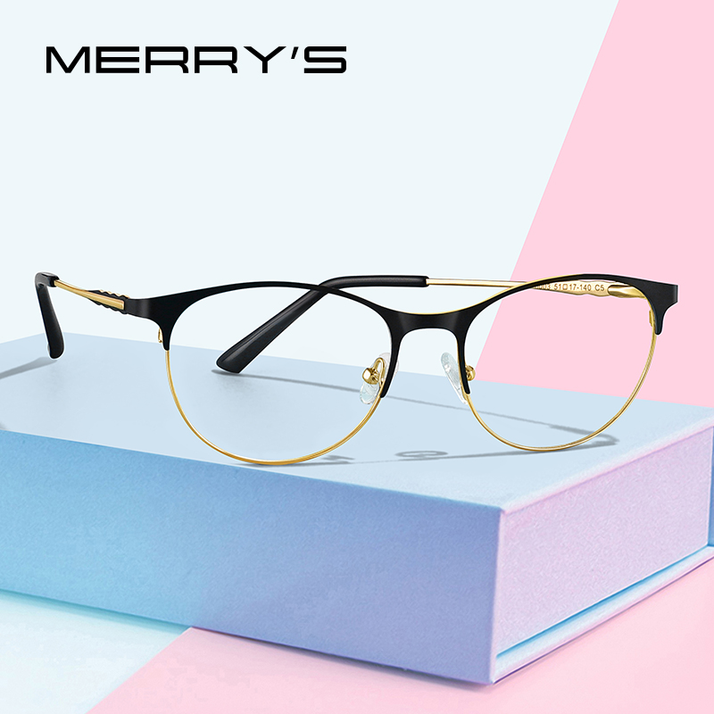 MERRYS DESIGN Women Retro Cat Eye Glasses Frame Ladies Fashion Trending Eyewear Myopia Prescription Optical Eyeglasses S2103