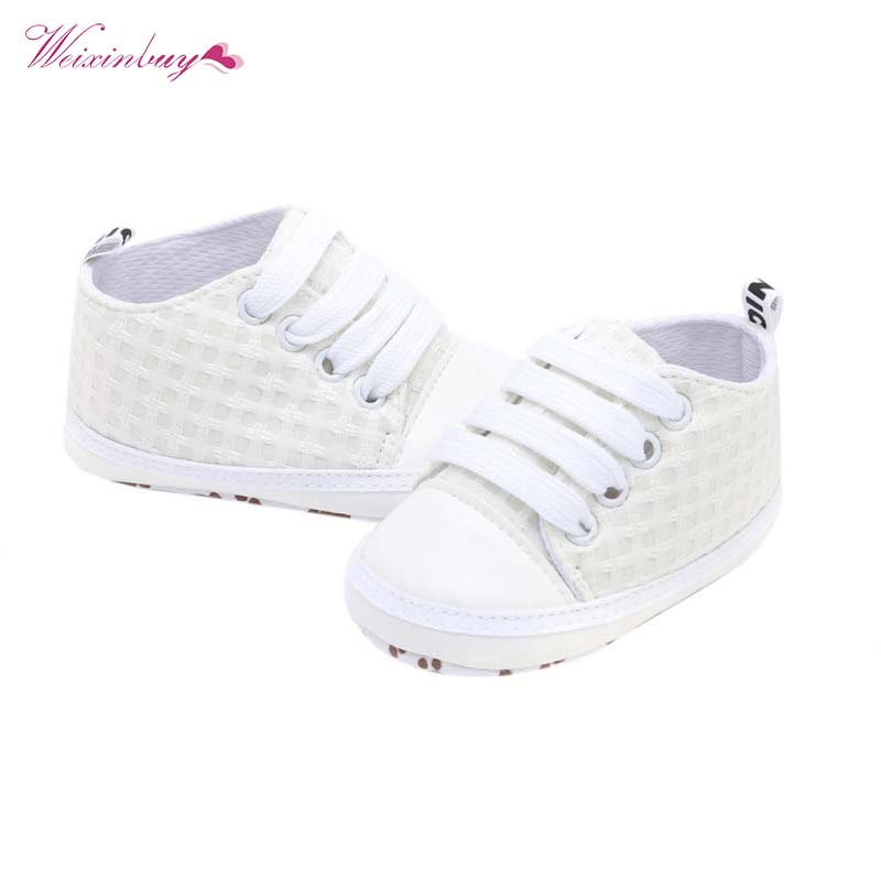 Baby First Walkers Plaid Canvas Shoes Newborn Baby Boy And Girl Sneakers Infantil Soft Bottom Kids Shoes