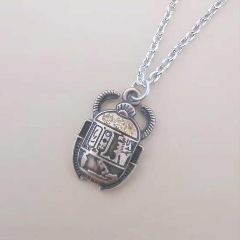 Egyptian Scarab Beetle Liontin Kalung Wicca Pagan Perhiasan Kelahiran Kembali Kebangkitan Keabadian Gothic Kalung Hadiah Natal Kalung