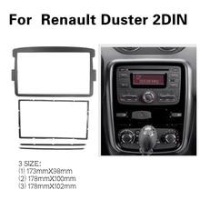 2 الدين إطار السيارة لوحة فآسيا ل سيارة رينو داستر 2012 + محول CD لوحة الكسوة واجهة ستيريو راديو في داش جبل عدة