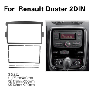 Image 1 - 2 DIN Car Frame Panel Fascia for Renault Duster 2012+ Adapter CD Trim Panel Stereo Interface Radio In Dash Mount Kit
