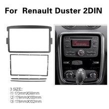 2 DIN rama samochodu Panel konsola dla Renault Duster 2012 + Adapter CD Panel wykończenia Stereo interfejs Radio w zestaw do montażu na desce rozdzielczej