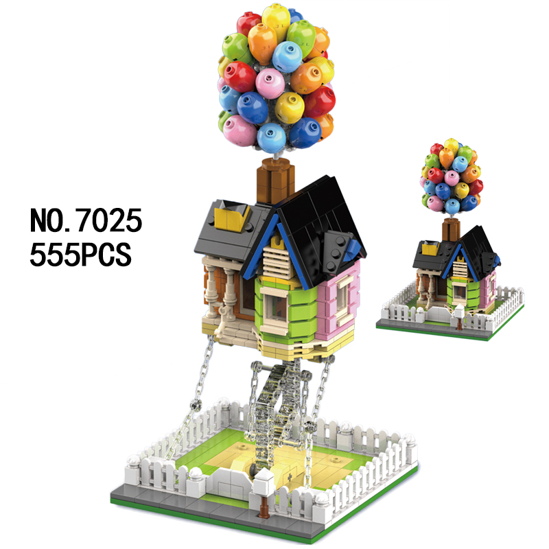 7025 Balloon House Building Blocks Kit Movie Model Bricks Set for Children Christmas Birthday Assembly Toys Gifts