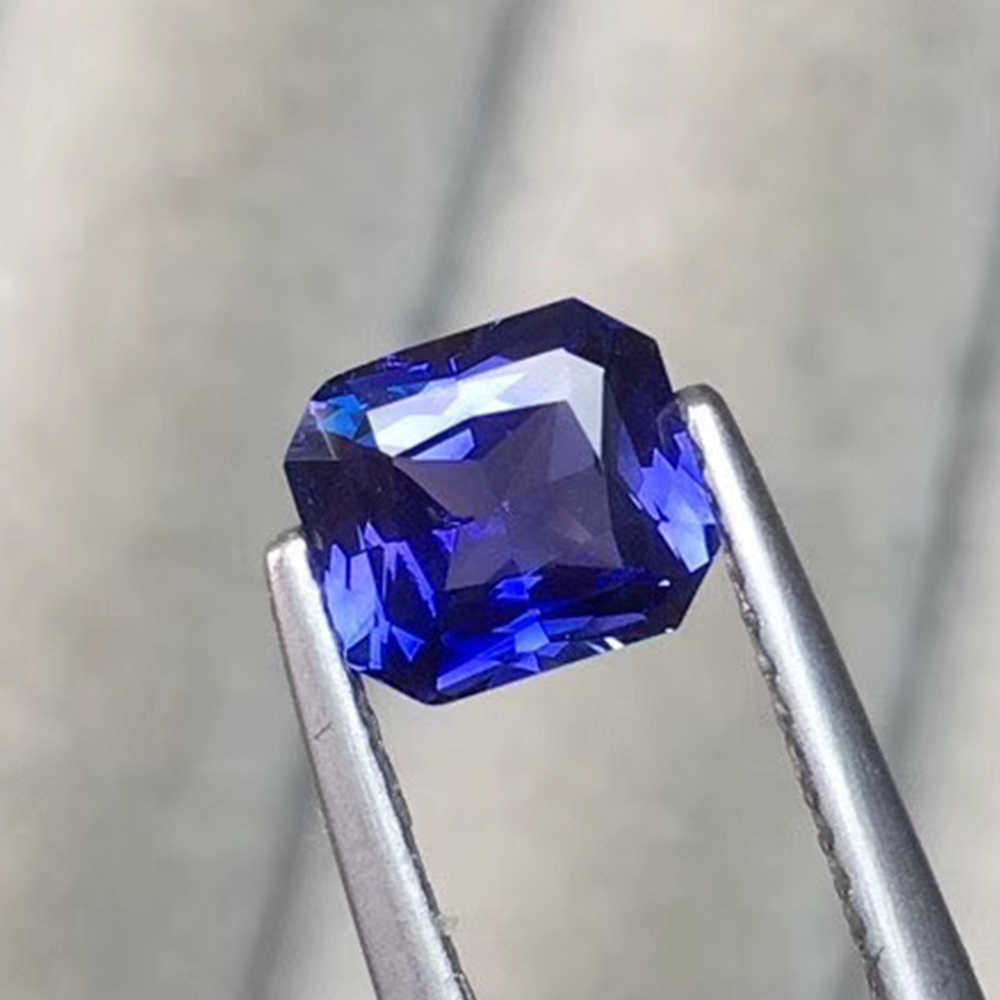 Natürliche Unburnt Royal Sapphire 1,14 ct Spezifikationen 6.67*5.92*3,3mm High-end-Custom Ring Anhänger Mosaik stein