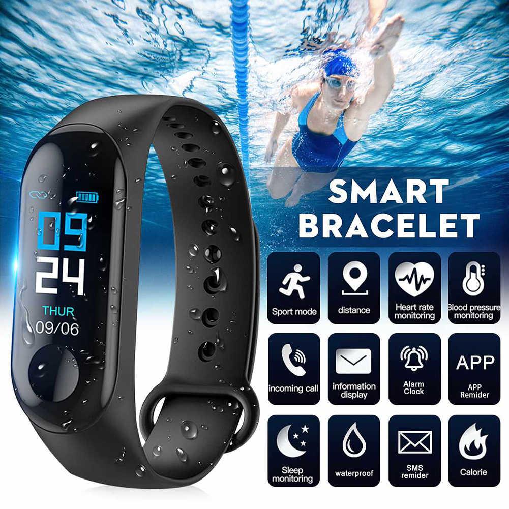 Esporte de fitness tracke relógio smartband pulseira inteligente pressão arterial monitor freqüência cardíaca banda inteligente para android ios