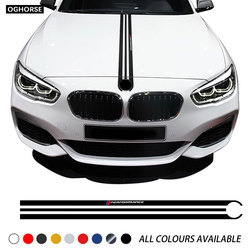 Car Hood Sticker M Performance Engine Cover Bonnet Decal For BMW 1 Series F20 F21