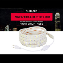 Hntoolight led Strip 220v 110V Double Row Flexible Tape Warm White Cool White