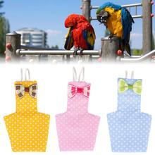 Инновационная одежда с птицами попугай подгузник салфетка ручной работы штаны с птицами милый Летающий костюм одежда пилота для Cockatiel Parakeet