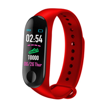 цена на smart band m3 plus Wristband Color Touch Screen Fitness Tracker Blood Pressure Heart Rate Monitor Smart Bracelet for IOS Andriod