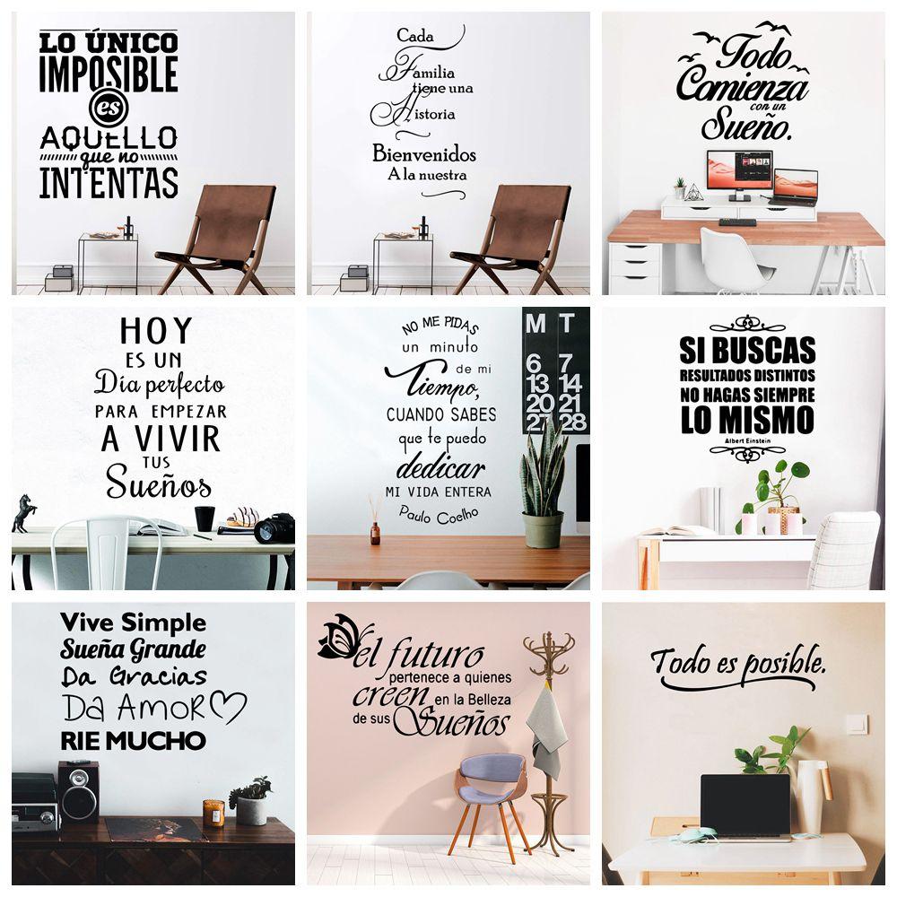 Новые испанские предложения наклейки на стену Виниловая наклейка для украшения комнаты наклейки на стены наклейка фраза обои постер роспи...