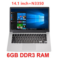 Ultrabook Webcam Student Laptop Cheap N3350 Bluetooth Quad-Core 6GB 64GB with Wifi