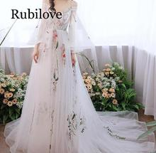 Rubilove Mori dress 2019 summer new elegant retro brigade simple super fairy tail out light